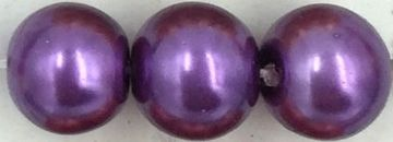 37 Mid purple- glass pearls - beads - all sizes